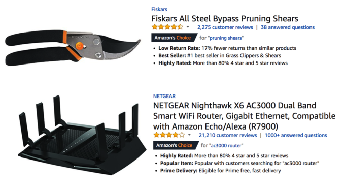 amazon choices
