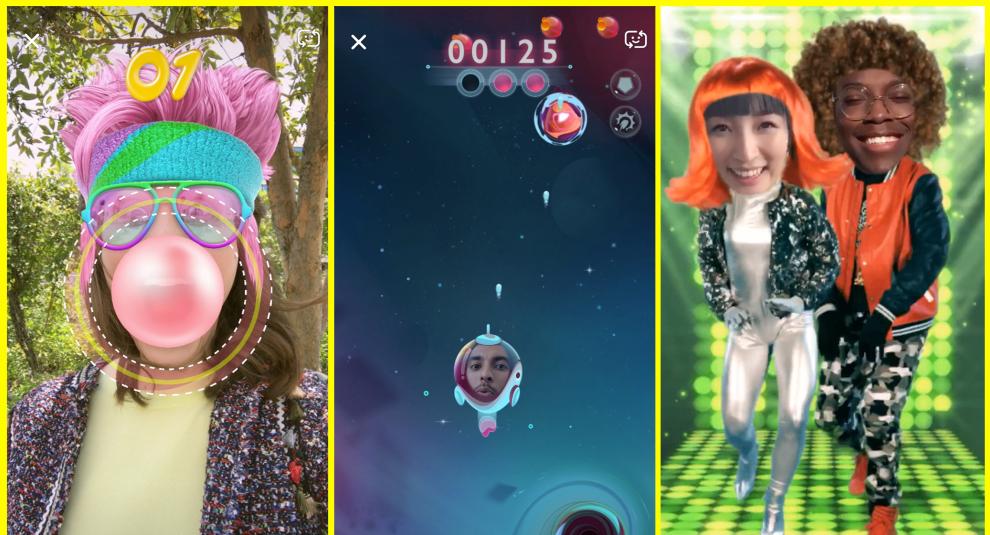 Snapchat lanza Snappables: juegos innovadores en realidad aumentada... a partir de tus selfies