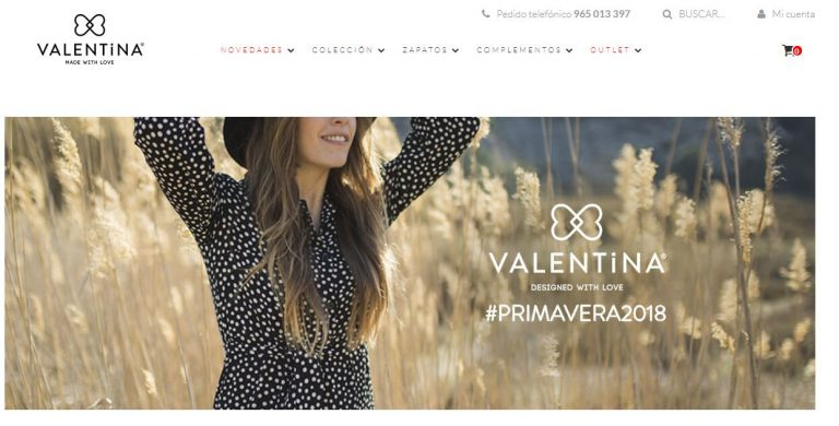 tienda online Valentina