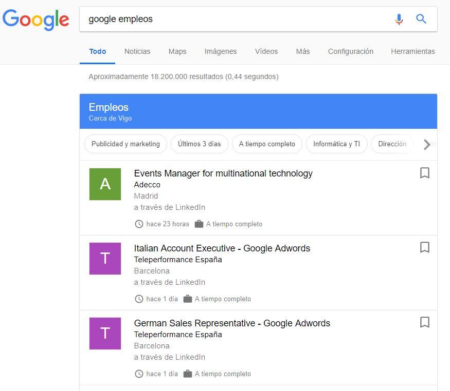 Google Empleos se lanza oficialmente en España: así es la apuesta del gigante online para ayudarte a encontrar trabajo
