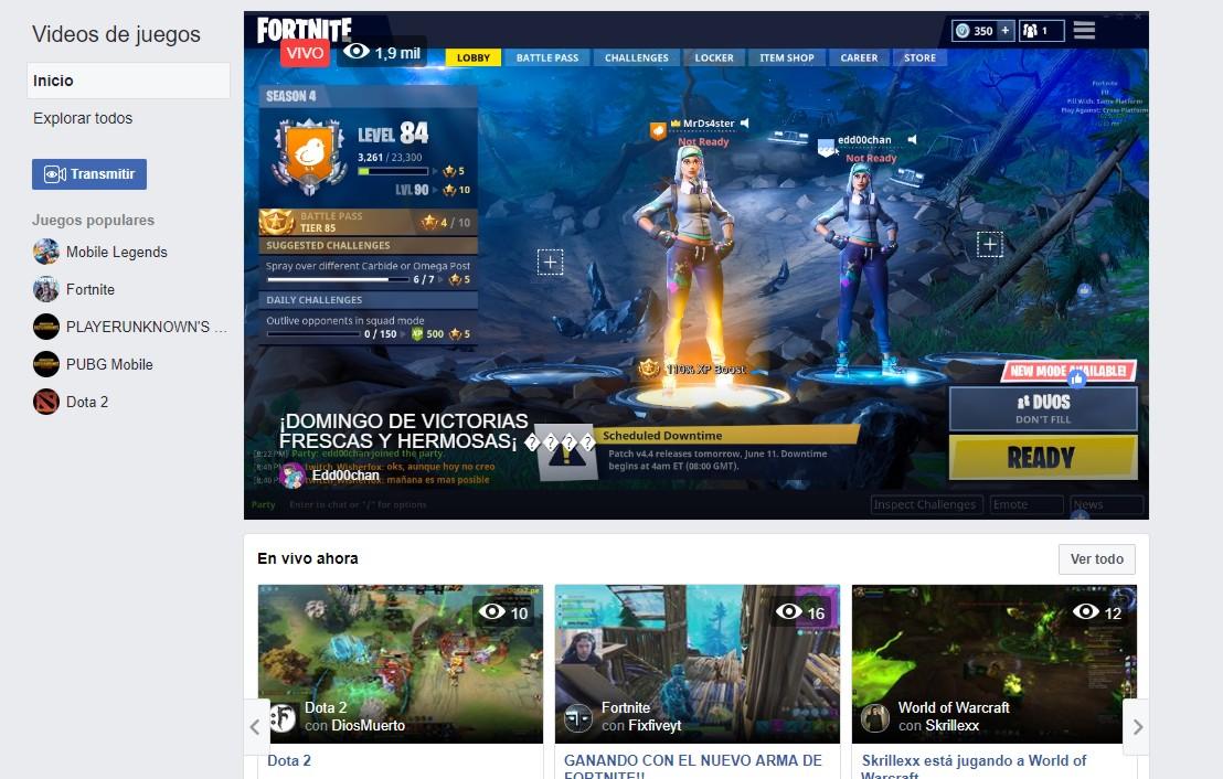 Probamos Facebook Gaming, la plataforma de streaming de videojuegos que busca derrotar a Amazon Twitch