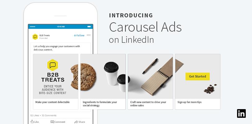 Llegan los LinkedIn Carousel Ads: cómo usar el nuevo formato publicitario de la mayor red social profesional del mundo