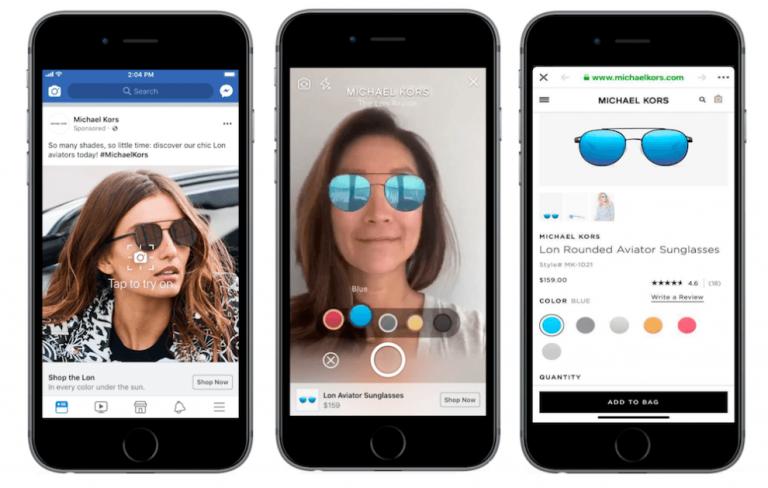 Facebook estrena anuncios con realidad aumentada en su newsfeed