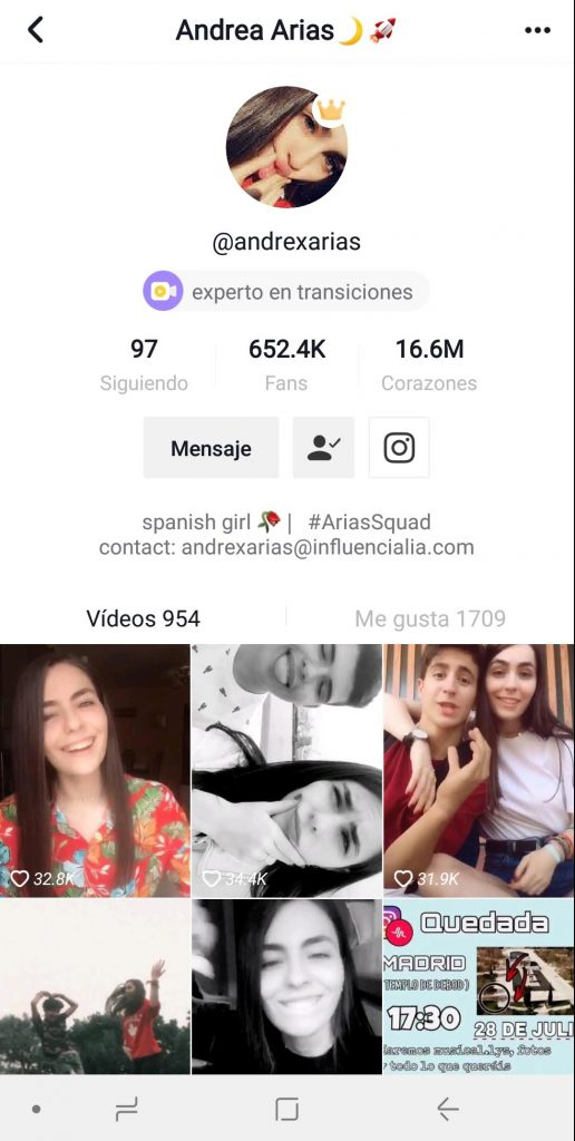 Musical.ly Andrea Arias