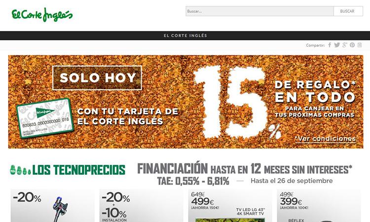 bde9b5e5d La tienda online de El Corte Inglés ampliará sus entregas en dos ...
