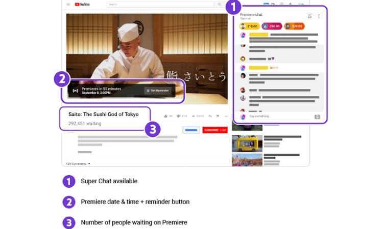 Las Premieres de YouTube, al alcance de cualquier usuario