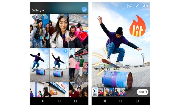 Ya puedes subir hasta10 fotos a la vez a tus stories de Instagram