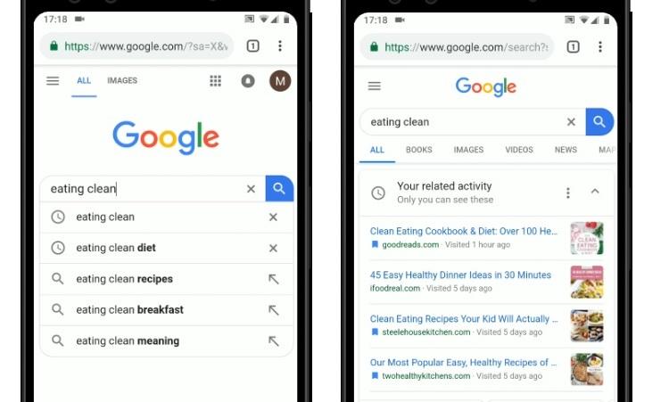 historial de actividad en google