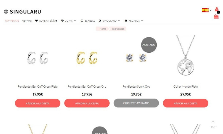 82540e1f7df5 Tienda online de joyas y complementos Singularu  opiniones y valoración