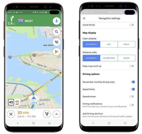 Google Maps Velocimetro