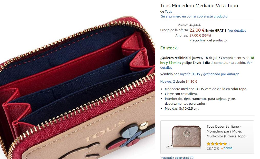 Ejemplo de producto para vender en Amazon