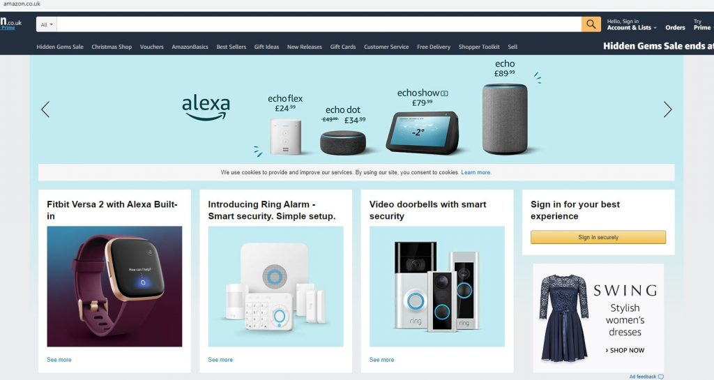 Marketplace de Amazon para Reino Unido
