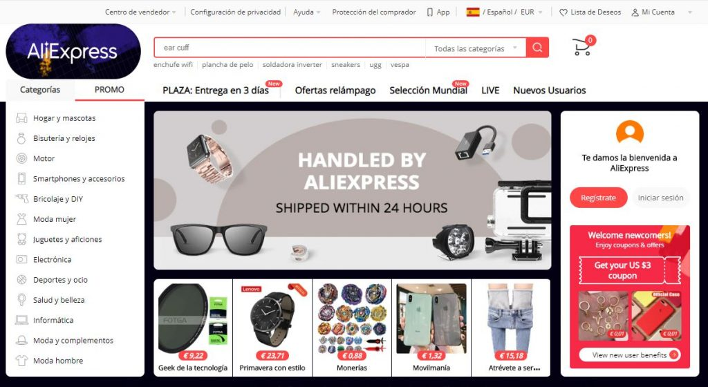 Marketplace de Aliexpress
