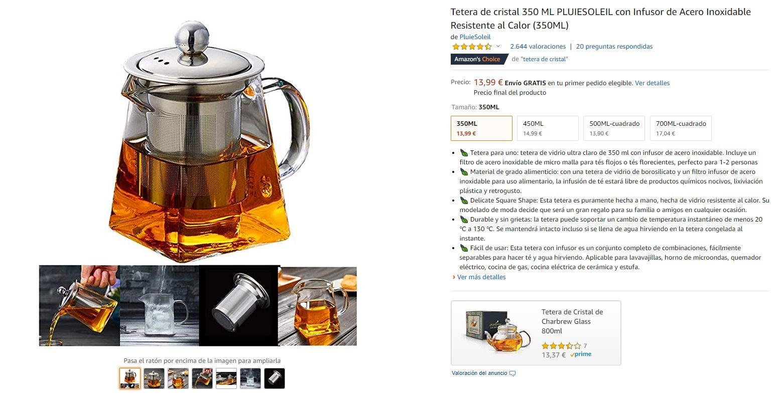 Ficha de producto en Amazon