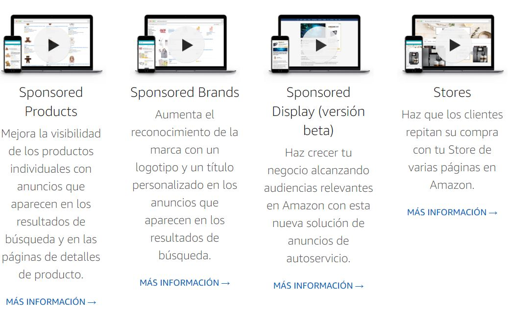 Tipos de anuncios en Amazon