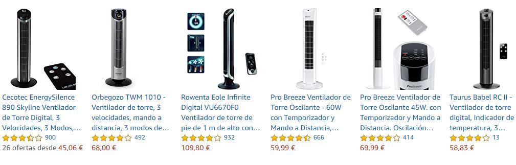 Calificaciones de estrellas en Amazon