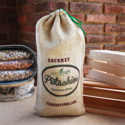 5 lb Burlap Bag Roasted & Salted Pistachios