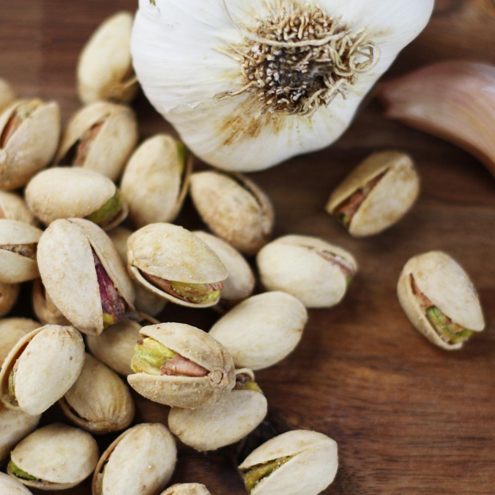 14 oz Bag Garlic Roasted Pistachios