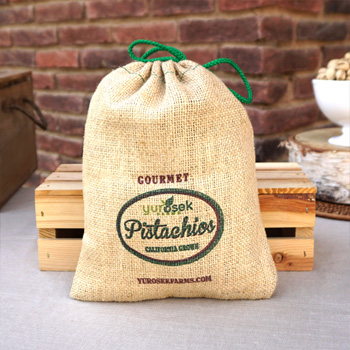 2 lb Burlap Bag Roasted & Salted Pistachios