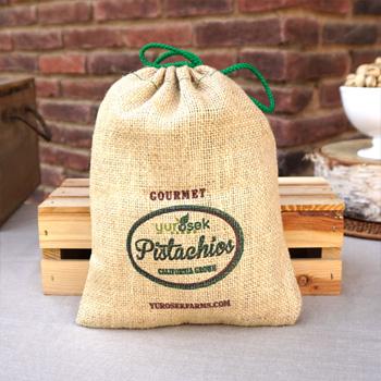 2 lb Burlap Bag Roasted & Salted Pistachios