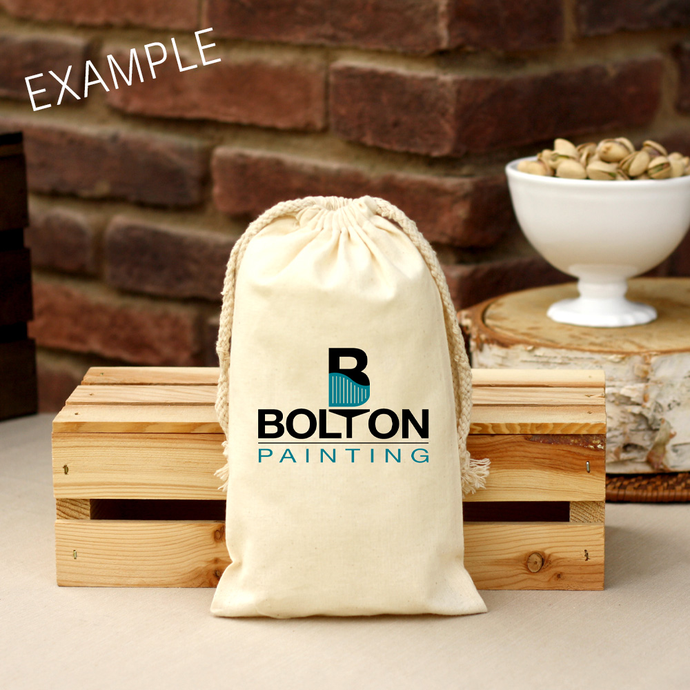 14 oz Corporate Cotton Bag Roasted & Salted Pistachios