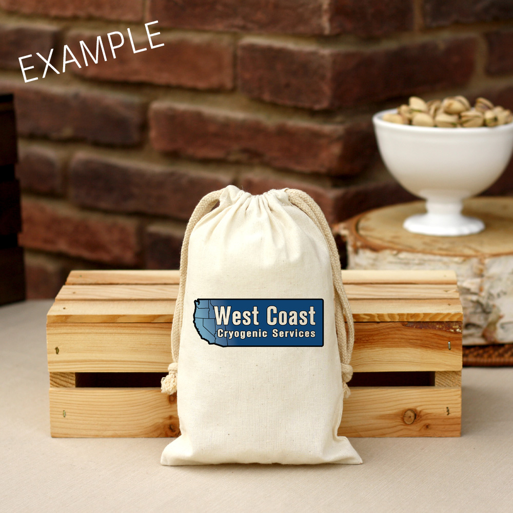 8 oz Corporate Cotton Bag Roasted & Salted Pistachios