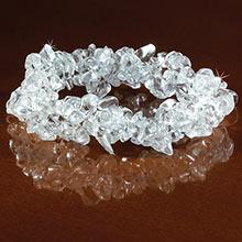 Clear Quartz Stretch Bracelet