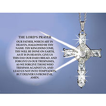 Lord's Prayer Cross Necklace