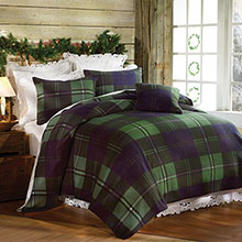 Emerald Plaid Fleece Blankets & Accessories