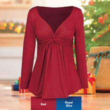 Slimming Twist-Top Tunic