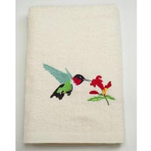 Hummingbird Embroidered Bath Linens