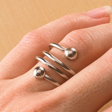 Silver-Tone Weight Loss Ring