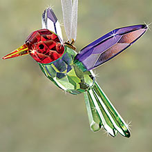 Crystal Hummingbird Suncatcher