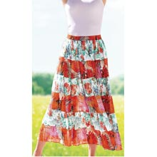 Floral Palms Tiered Skirt
