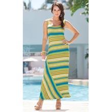 Green Striped Maxi Dress