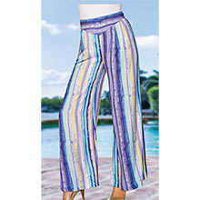 Multi-Colour Stripe Palazzo Pants