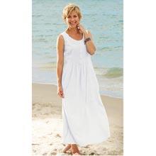 Sleeveless Neat Pleat Maxi Dress