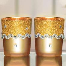 Gold Glitter Votive