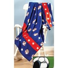 Soccer Team Spirit Fleece Throw