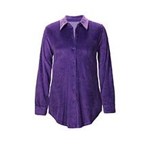 Stretch Velour Shirt