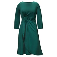 Side Drape Faux Wrap Dress