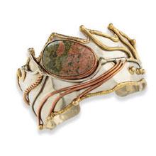 Natural Stone Cuff Bracelet