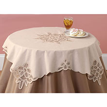 Battenburg Table Linens - Round Topper