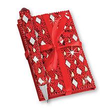 Red Bejewelled Notebook & Pen Set
