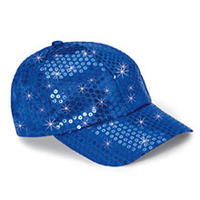 Royal Blue Sequined Glamour Cap