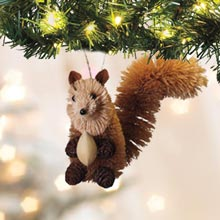 Buri Wildlife Ornament - Squirrel