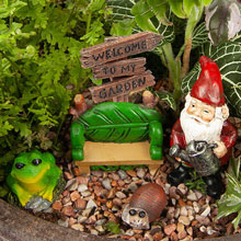 Welcome Gnome Fairy Garden Set