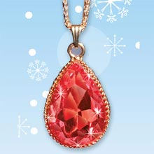 Crimson Teardrop Necklace