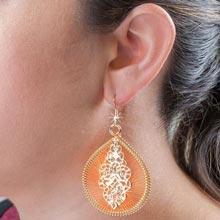Sunset Medallion Dreamcatcher Earrings