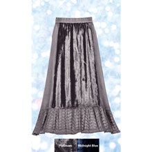 Lacy Velvet Paneled Skirt